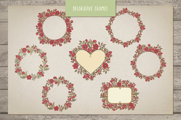 Vintage Dog-Rose vector pack in Patterns - product preview 4
