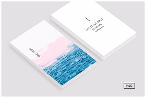 Ocean pink business card template business card templates ocean pink business card template business card templates creative market colourmoves