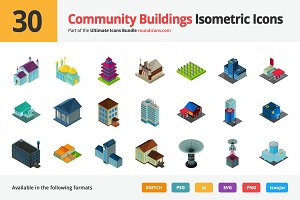 30 Community Isometric Icons