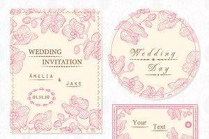 Invitation card, tag design only