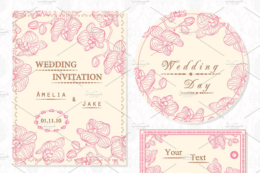 Invitation Card Tag Design Only