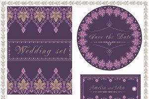 Vector invitation cards ONLY design