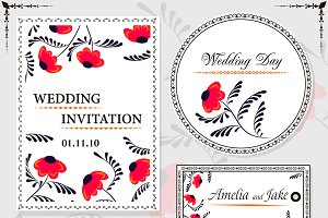Floral invitation cards ONLY design