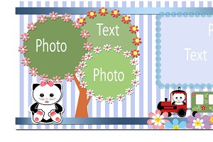 Digital photoframe,greeting card PSD