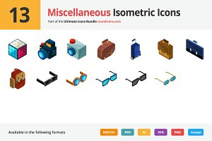 13 Miscellaneous Isometric Icons
