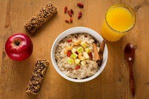 Healthy breakfast food