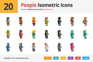 20 People Isometric Icons