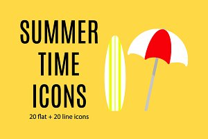 Summer Time Icon Set