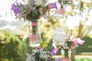 Hanging flowers ornament