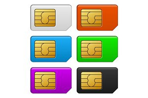 Sim Card Color Set