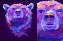 Bear (Animal set. Vector)