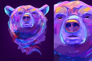 Bear (Animal set. Vector)