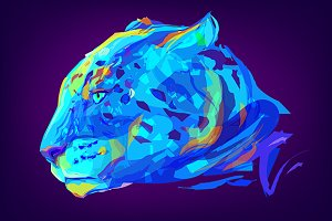 Jaguar (Animal set. Vector)