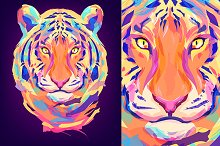 Tiger (Animal set. Vector)