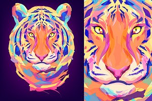 Tiger (Animal set. Vector)