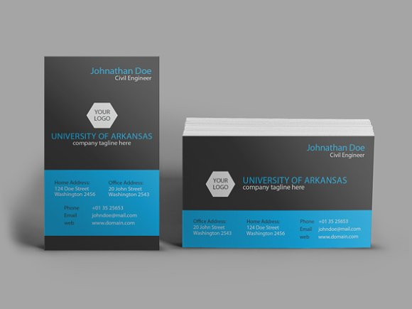 University Business Card Business Card Templates Creative Market