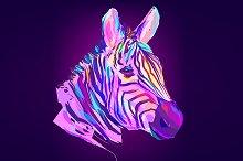 Zebra (Animal set. Vector)