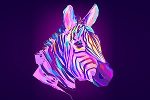 Zebra (Animal set. Vector)