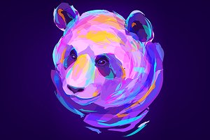 Panda (Animal set. Vector)