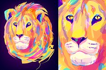 Lion (Animal set. Vector)