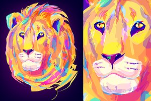 Lion (Animal set. Vector)