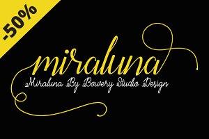 Miraluna 3 font styles + Bonus