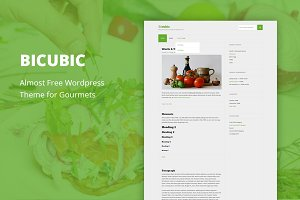 Bicubic - Cheap WordPress Theme
