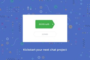 Mimium Chat App UI Kit