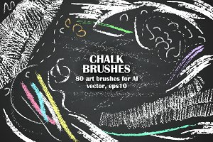 Chalk brush handy set