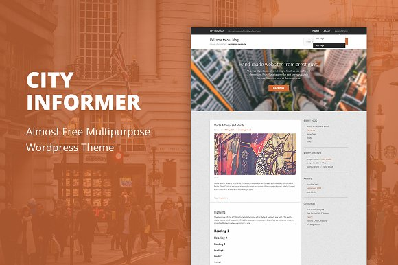 City Informer - WordPress Theme