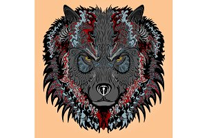 Stylised wolf