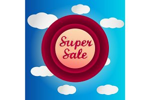 Super sale circle label