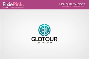 Globe Tour Logo Template