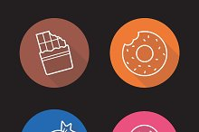 Confectionery icons. Vector