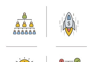 Business concept icons. Vector