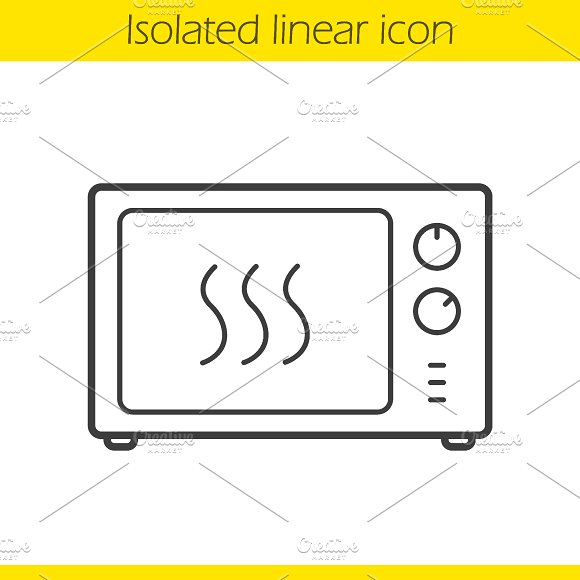 Microwave oven icon. Vector - Icons