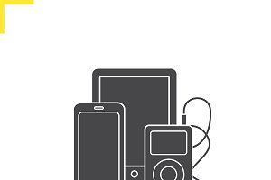 Electronics gadgets icon. Vector
