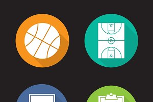 Basketball icons. Vector