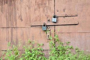 Abandoned garage doors