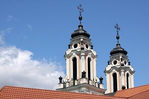 Baroque church towers
