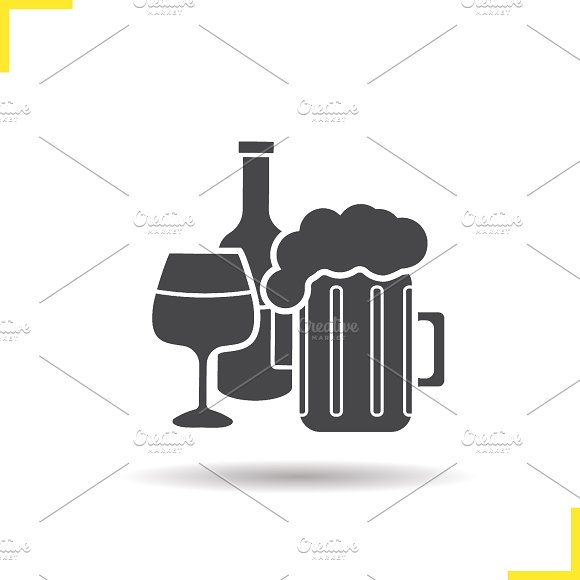 Alcohol icon. Vector