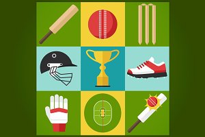 Cricket icons