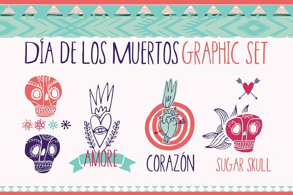 Day of the Dead Graphic set