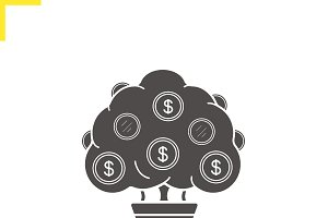 Money tree icon. Vector