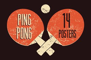 Ping Pong typographical poster.