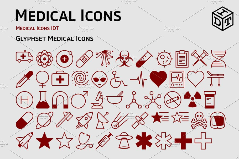 Medical Icons + Web Font(Free)