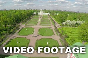 Aerial shot of Tsaritsyno Park