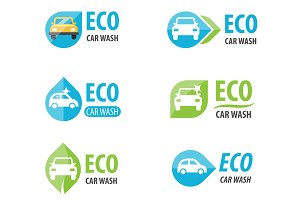 Eco car wash logo templates