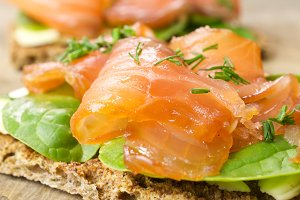 Sandwich with salted Salmon