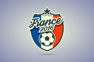 France 2016 soccer badge.
